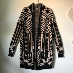 Ecoté / Urban Outfitters | tribal pattern cardigan